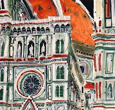 British Artist Susan BROWN - Detail of Duomo