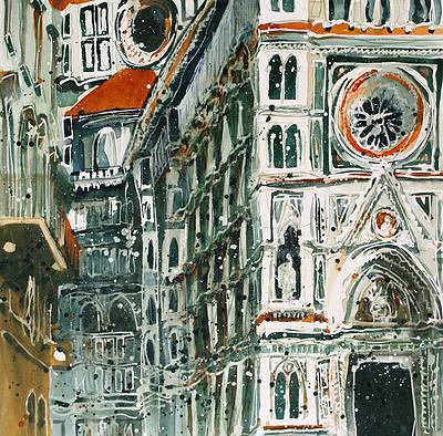 British Artist Susan BROWN - Light Shade and Perspective I,  Florence