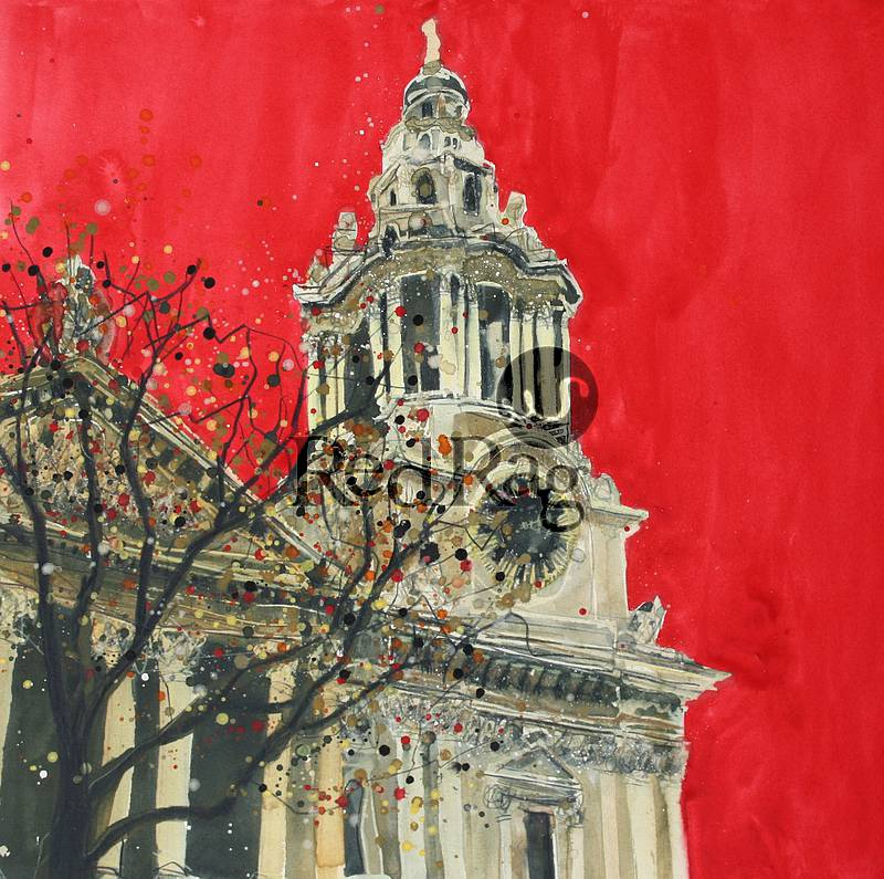 Susan BROWN - West Front Tower with Clock Face, St Paul's