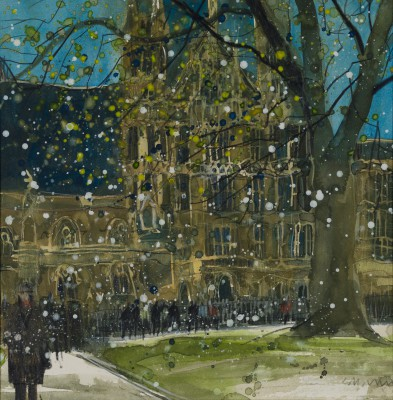 British Artist Susan BROWN - From Abbey Gardens - Houses of Parliament
