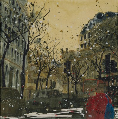 British Artist Susan BROWN - The Aldwych - Winter