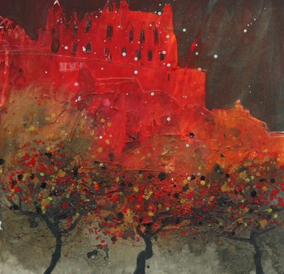 Limited Edition Prints Artist Susan Brown - Castle Rock, Edinburgh