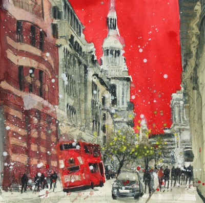 British Artist Susan BROWN - The City, London