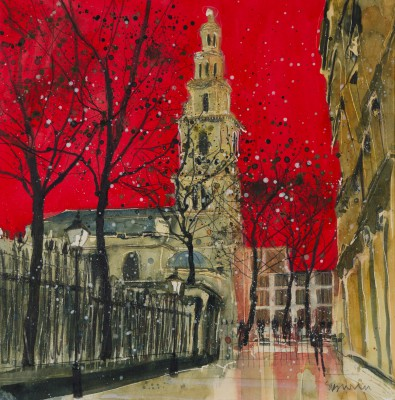 British Artist Susan BROWN - St Clement Danes - Courts of Justice