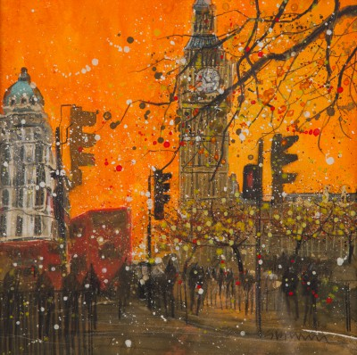 British Artist Susan BROWN - Evening Traffic