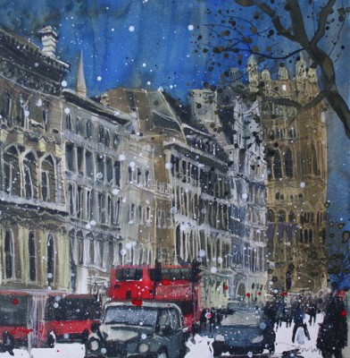 Limited Edition Prints Artist Susan Brown - Looking Across from Princes Street, Edinburgh