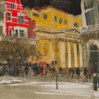 British Artist Susan BROWN - Passing the Lyceum