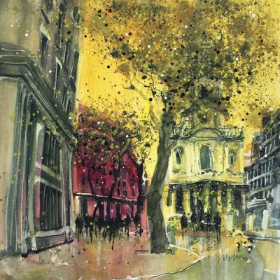 Limited Edition Prints Artist Susan Brown - St. Mary Le Strand London