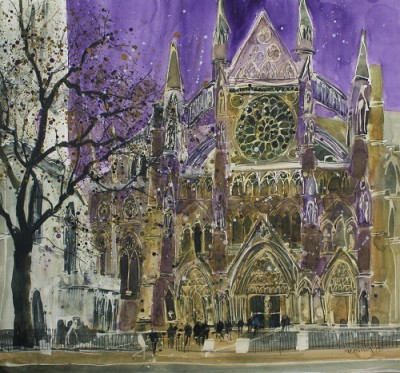 Limited Edition Prints Artist Susan Brown - Setting For Great Pageants, Westminster Abbey