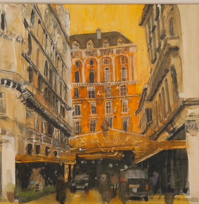 British Artist Susan BROWN - Golden Days, the Savoy