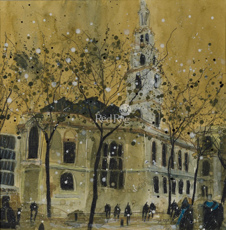 Susan BROWN - St Clement Danes from the Strand