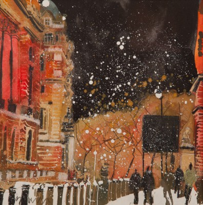 British Artist Susan BROWN - Winter Evening