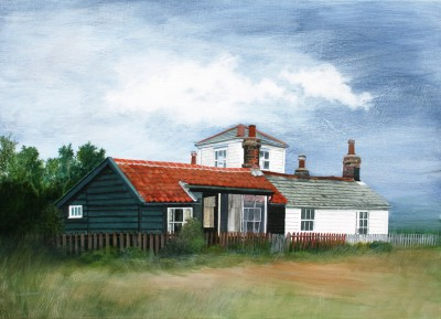 British Artist Sylvia ANTONSEN - Suffolk Beach Houses