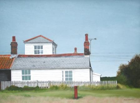 British Artist Sylvia ANTONSEN - White Beach House