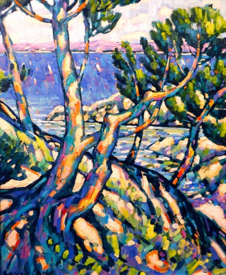 British Artist Terence CLARKE - Island Pines, Cote D'Azur