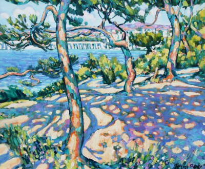 British Artist Terence CLARKE - Afternoon Light Cap Ferrat