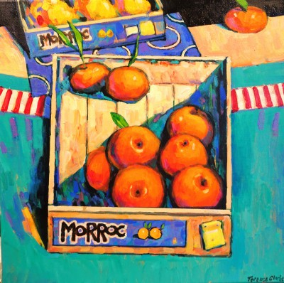 British Artist Terence CLARKE - Box of Tangerines