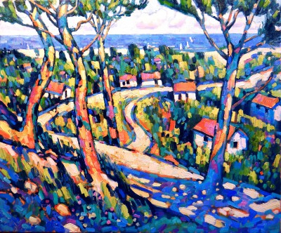 British Artist Terence CLARKE - Path to the Sea, Provence