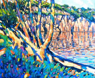 British Artist Terence CLARKE - Little Bay near Agay