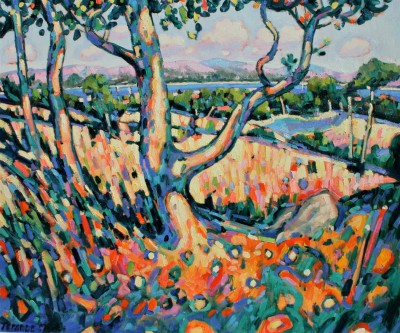 Afternoon Sun, Provence painting by artist Terence CLARKE
