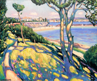 British Artist Terence CLARKE - Dappled Light, Theoule sur Mer