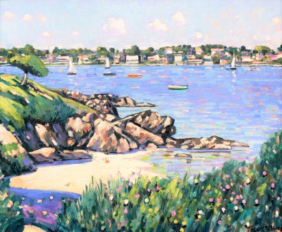 British Artist Terence CLARKE - The Little Beach, Cap Ferrat