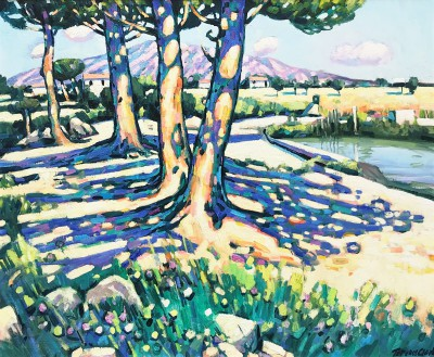 British Artist Terence CLARKE - Noon Shadows, Spain