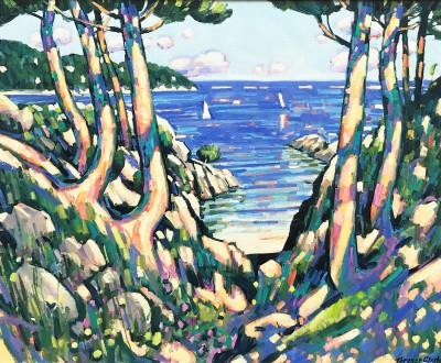British Artist Terence CLARKE - Sea View Port D'Alon
