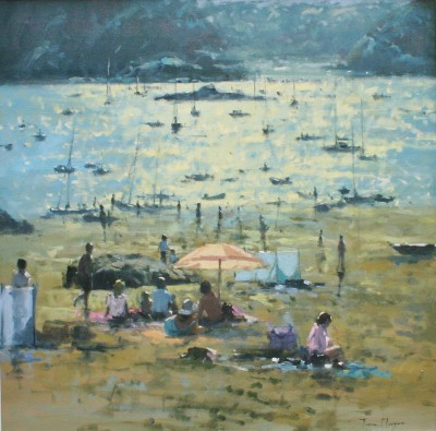 British Artist Tina MORGAN - Light through a Parasol, Salcombe
