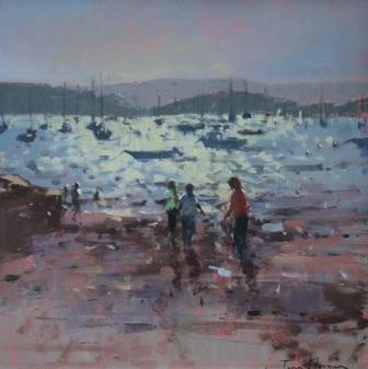 Tina MORGAN - Boats at Anchor, the Exe