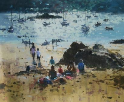 Tina MORGAN - Family by the Rocks, Salcombe