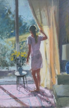 Tina MORGAN - Sunlight on a Curtain