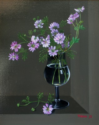 Pink Vetch  painting by artist Tobias HARRISON