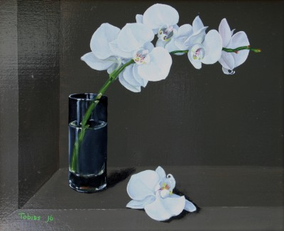 British Artist Tobias HARRISON - Orchid in a Glass