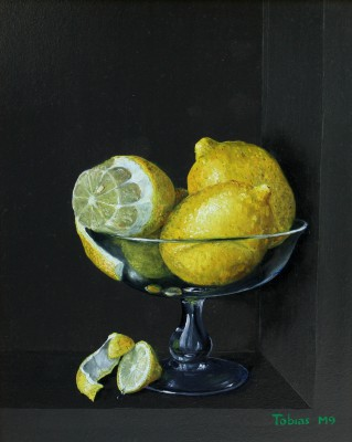 Tobias HARRISON - Lemons in a Glass Chalice