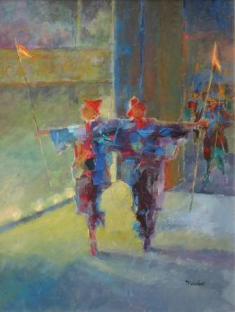 British Artist Tom WANLESS - Dancers to Centre Stage