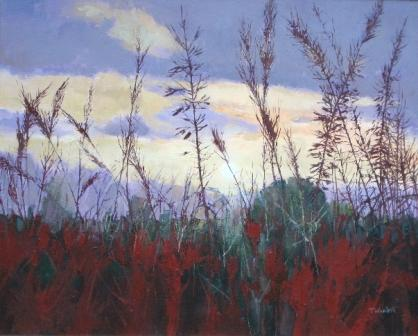 British Artist Tom WANLESS - Breckland Grasses