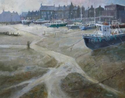 British Artist Tom WANLESS - Northern Fishing Village
