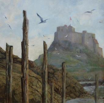 British Artist Tom WANLESS - Seabirds Lindisfarne