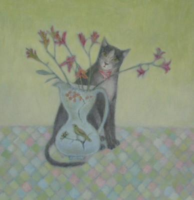 The Cat and the Canary painting by artist Tracy REES