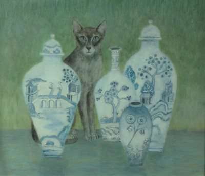 Old China painting by artist Tracy REES