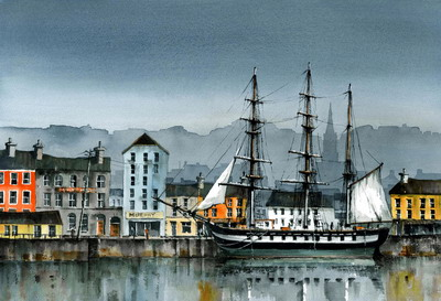 British Artist Val Byrne - Dunbrody Tall Ship, New Ross