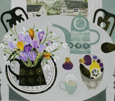 Vanessa BOWMAN - Crocuses and Green Coffee Pot