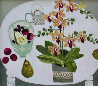 British Artist Vanessa BOWMAN - Orchid and Pears