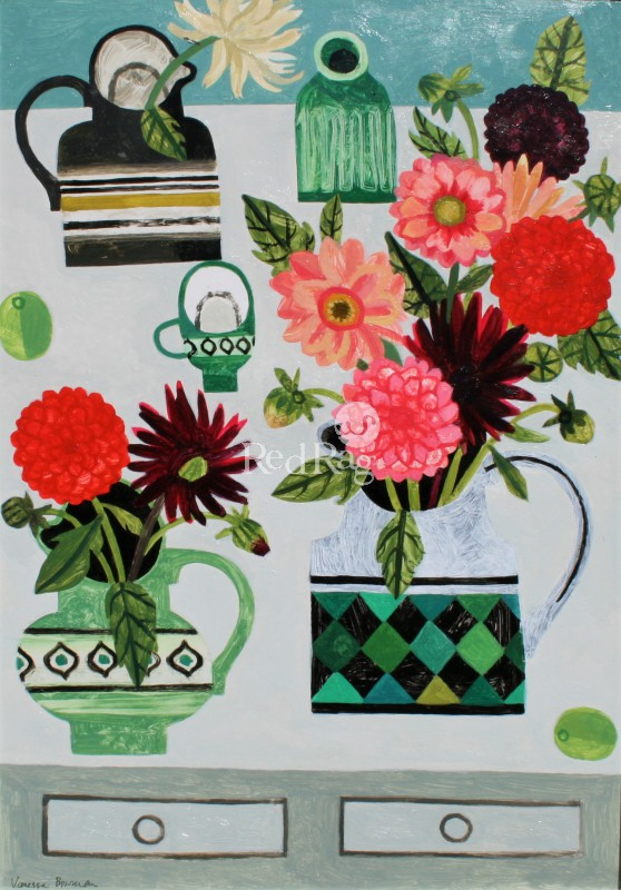Vanessa BOWMAN - Dahlias on the Table