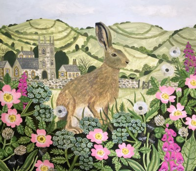 Vanessa BOWMAN - Hare,Wild Roses and Foxgloves