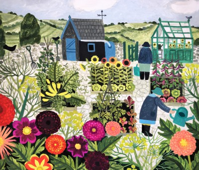 The Summer Allotment  painting by artist Vanessa BOWMAN