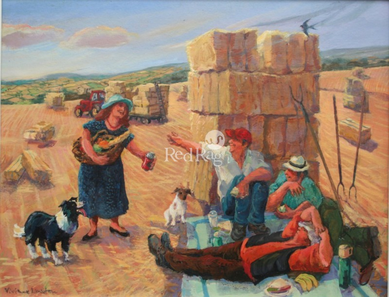Vivienne LUXTON - Lunch Break for the Hay Makers