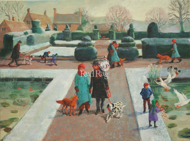 Vivienne LUXTON - Meeting in the Frosty Garden