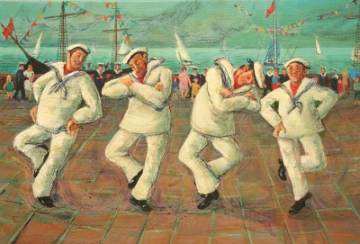Sailor's Hornpipe     painting by artist Vivienne LUXTON